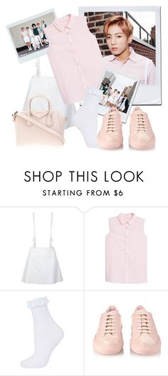 """BTS inspired by Jungkook outfit"" by schnpri ❤ liked on Polyvore featuring moda, Courrèges, MANGO, Topshop, Common Projects, Givenchy, kpop, bts y jungkook"