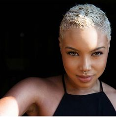 Loving the blonde! Simple and chic #twa #bigchop #teamnatural #naturalgirls #naturalhair