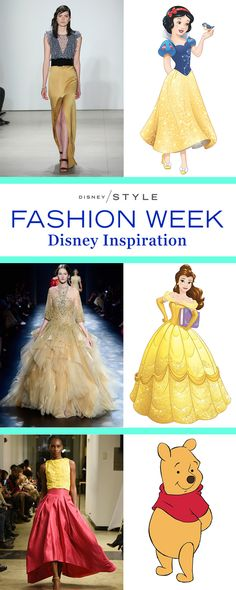 There were so many Disney details throughout the runway collections of 2016 New York Fashion Week. | [ http://blogs.disney.com/disney-style/fashion/2016/02/21/fashion-week-looks-disney-characters/ ]