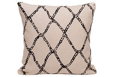 Fishermen's Net Pillow, Navy/Hemp on OneKingsLane.com
