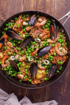 Save the recipe! Spanish Seafood Paella, Foil Potatoes, Memorial Day Foods, Creamy Potato Salad, Grilled Chicken Thighs, Best Pasta Salad, Beef Kabobs, Paella Recipe, Spanish Food