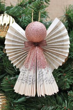 Angel Adorno ornamento del Brone ornamento de por whimsysworkshop