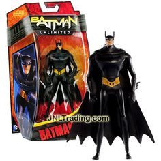 "Mattel Year 2013 DC Comics Batman Unlimited Animated ""Beware the Batman"" Series 6 Inch Tall Action Figure - BATMAN (Y3141)"