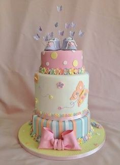 Baby Shower Cake Baby Shower Candy, Baby Shower Parties, Sweet Cakes, Cute Cakes, Candy Cakes, Cupcake Cakes, Girl Shower, Holidays And Events, Beautiful Cakes