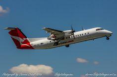 A Qantas Dash 8 departing #Canberra this week. #avgeek #QANTAS #Aviation #photography #canon Canon Australia #cbr
