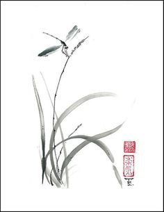 Nature Design Art Style 29 Ideas For 2019 Sumi E Painting, Chinese Painting, Chinese Art, Ink Drawings, Love Drawings, Japanese Art Styles, Art Chinois, Art Aquarelle, Art Asiatique