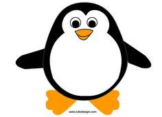 Pinguino disegno per bambini da colorare appliquet for Disegno pinguino colorato
