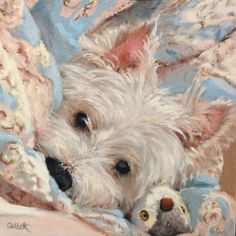 "Daily Paintworks - ""Bedtime Buddies"" - Original Fine Art for Sale - © Cindy Gillett"
