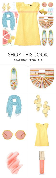 """Summer Pastels"" by sweet-designs ❤ liked on Polyvore featuring René Caovilla, Cult Gaia, Lands' End, Trina Turk, Birchrose + Co. and Smith & Cult"