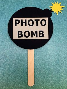 Photobomb Photo Bomb Photo Booth Prop - Wedding, Birthday Party Photo Prop…