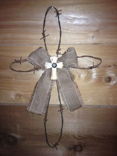 Barbed Wire Cross $15