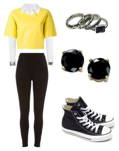 """""""EXO - Love Me Rigth (Baekhyun inspired outfit)"""" by lucky-unicorn ❤ liked on Polyvore featuring moda, Topshop, MSGM, T By Alexander Wang, River Island, Converse, B. Brilliant, women's clothing, women e female"""