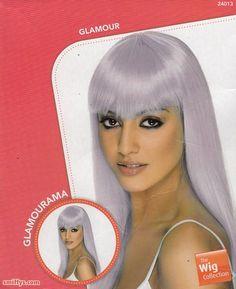 Parrucca liscia luga color lilla. Travestimento per Carnevale, festa a tema e come strega ad Halloween. Disponibile da C&C Creations Store.