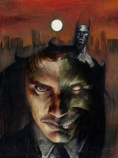 Batman and Two-Face by Jason Shawn Alexander *