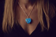 Blue Glow Necklace Gifts for Mom Girlfriend Gift by EpicGlows