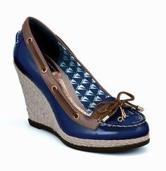 boat shoe wedges