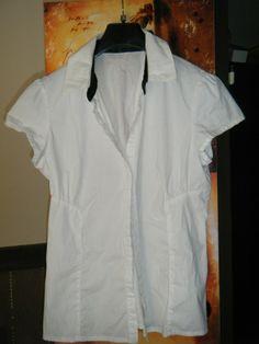 Chemisier blanc  dans Chemise / vêtements / mode