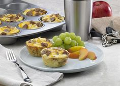 Fast, Easy Breakfast Cups Recipe from Food Network What's For Breakfast, Breakfast Dishes, Breakfast Recipes, Breakfast Options, Breakfast Muffins, Breakfast Casserole, Turkey Breakfast Sausage, Sausage Muffins, Egg Muffins