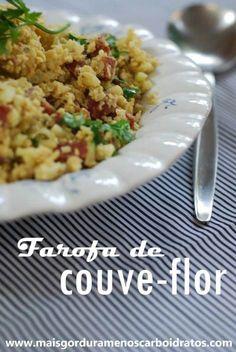 FAROFA DE COUVE-FLOR, LINGUIÇA E OVO