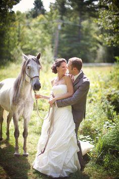 Newlyweds at their rustic country get away wedding, photos by Sarah DiCicco Photography   junebugweddings.com