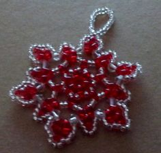 Bead and crystal snowflake / wreath / от LescreationsAlepine Snowflake Wreath, Crystal Snowflakes, Bead Weaving, Wreaths, Beads, Crystals, Holiday Decorations, Trending Outfits, Unique Jewelry