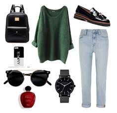 """""""Untitled #16"""" by anchika7 ❤ liked on Polyvore featuring Madewell, Stuart Weitzman, The Horse and Satine"""