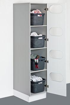 Utility room – Showcase Kitchens Brighton & Hove, - Top Of The World Laundry Room Layouts, Laundry Room Organization, Laundry Room Design, Ironing Board Storage, Laundry Sorting, Larder Unit, Laundry Cabinets, Laundry Room Inspiration, Brighton