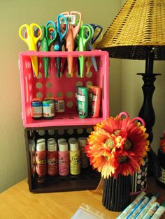 Ideas craft room organization scrapbook dreams for 2019 Craft Storage Ideas For Small Spaces, Small Craft Rooms, Craft Room Storage, Paper Storage, Scrapbook Room Organization, Scrapbook Storage, Craft Organization, Scrapbook Rooms, Craft Shed