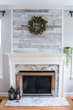 4 Swift Simple Ideas: Small Living Room Remodel Cabinets living room remodel with fireplace interior design.Living Room Remodel Before And After Budget small living room remodel cabinets.Living Room Remodel With Fireplace Mantels. Fireplace Redo, Shiplap Fireplace, Farmhouse Fireplace, Fireplace Remodel, Fireplace Design, Fireplace Mantels, Fireplace Ideas, Mantles, Wallpaper Fireplace