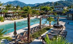 soak in a natural hot spring versus a pool // visit the calistoga hot springs & spa