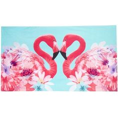 Butterfly Matthew Williamson Pink flamingo print beach towel ($42) ❤ liked on Polyvore featuring home, bed & bath, bath, beach towels, pink beach towel, matthew williamson and cotton beach towels