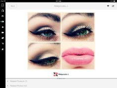 Pink lip & smokey eye