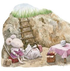 a mouse in a cave