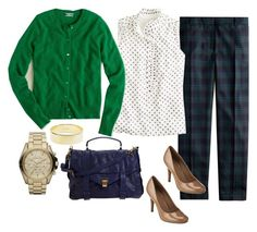 """""""Untitled #105"""" by shopmurphy ❤ liked on Polyvore featuring J.Crew, Michael Kors and Proenza Schouler"""