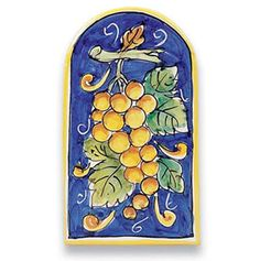 Sicilian Grapes Ceramic Tile