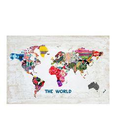 Look at this #zulilyfind! Oliver Gal 'Hipster Mapa Mundi' Art Print by Oliver Gal #zulilyfinds, $20 !!