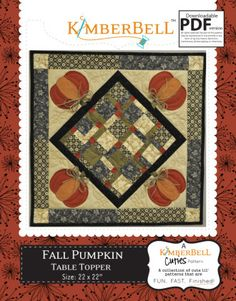 Fall Pumpkin Table Topper | Quilting Pattern | YouCanMakeThis.com