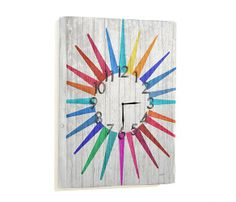 Festive sun clock - would be cute for a patio or deck.