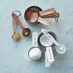 Copper Measuring Spoons & Cups