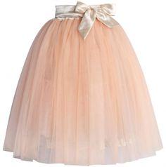 Chicwish TUTU sukně Amore, meruňková