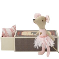 Maileg Big Sister Ballerina Mouse in a Box. Matchbox mice family! How adorable. $30
