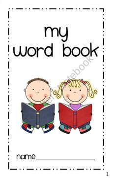 Individual Student Word Book / Dictionary product from SimplySkilledinSecond on TeachersNotebook.com