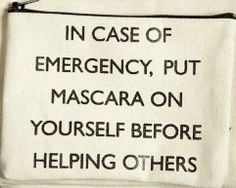 Essential Cosmetics in this Hilarious Emergency Mascara Pouch trendhunter. Carry Essential Cosmetics in this Hilarious Emergency Mascara Pouch trendhunter.Carry Essential Cosmetics in this Hilarious Emergency Mascara Pouch trendhunter. Makeup Quotes Funny, Makeup Humor, Cheap Gifts For Women, Chicago Store, Hair Again, Body Powder, Love Your Hair, In Case Of Emergency, Makeup Essentials