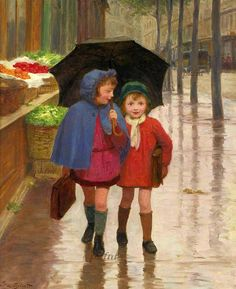 """Best Friends"" -- Victor Gabriel Gilbert (1847 – 1933, French)"