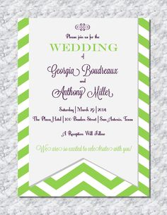 Modern Patterned Wedding Invitation By Wentroth Designs Visit Us