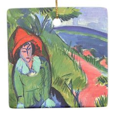 Kirchner - Erna by the Sea Ceramic Ornament - artists unique special customize presents