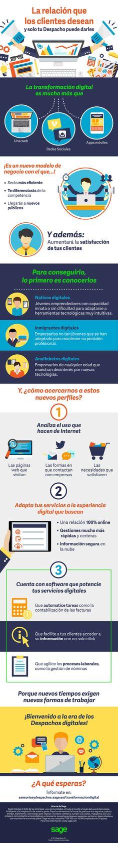 Transformación digital para Despachos Profesionales #infografia