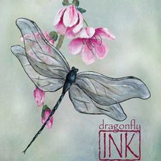 dragonfly and flower