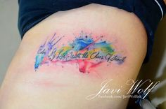 Javi wolf tatto artist color text quote tattoo