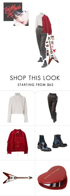"""""""heartbeat 하트 비트"""" by eggtartt ❤ liked on Polyvore featuring Golden Goose, Gucci, Maison Margiela, Marc Jacobs and Brandy Melville"""